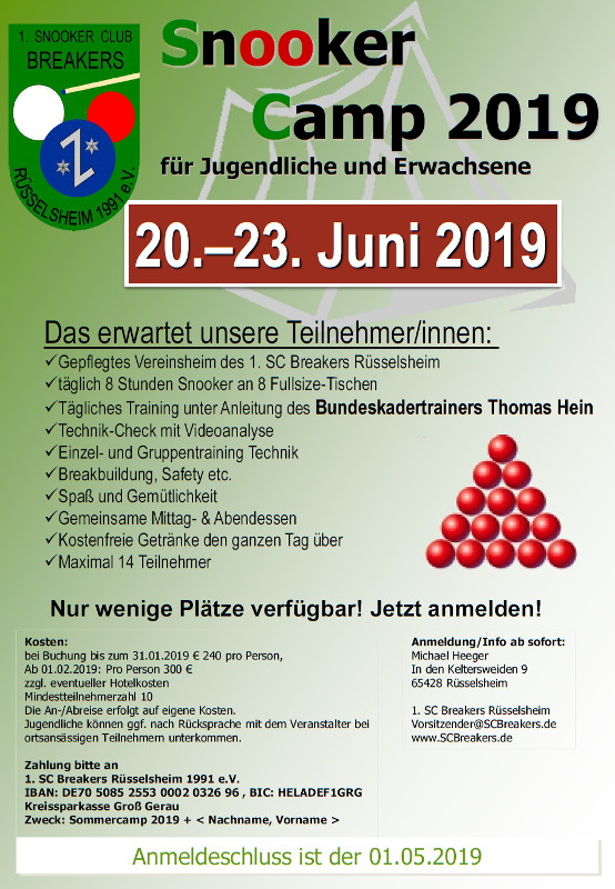 Flyer Sommercamp 2019